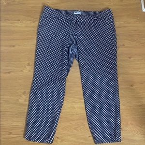 Old Navy Navy Blue And White Pixie Pants Size 16